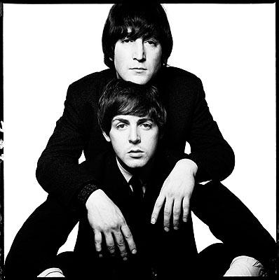 David BaileyJohn Lennon and Paul McCartney, 1965Gelatin silver print, edition of 10