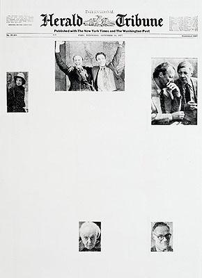 Sarah Charlesworth: Herald Tribune: September 1977 aus der Serie Modern History , 1977