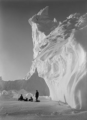 under the Lee of the Castle berg, September 1911©2009 Scott Polar Research Institute, University of Cambridge.