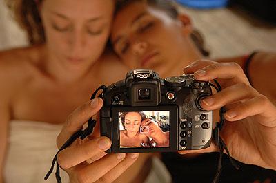 Philippe Pache, Gilda et Sarah, workshop photographique en Toscane, juillet 2007.