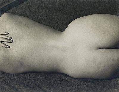 Edward Weston, Nude (Charis), silver print, 1935. Estimate: $35,000 to $45,000.