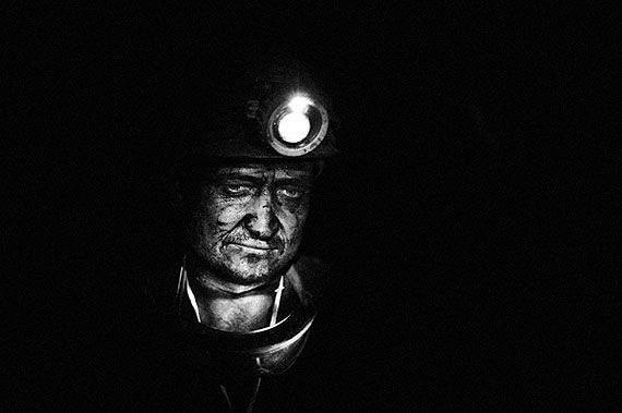 Pep BonetZabrze, Poland. September 2009Portrait of a miner at work at Sosnica-Makoszowy Coal Mine. Health and life of miners are often at risk.