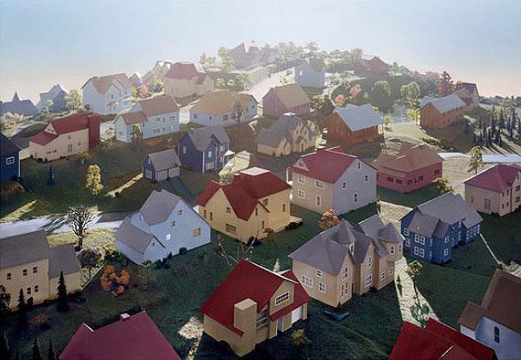 James CasebereLandscape with Houses (Dutchess County, NY)#1, 2009Framed Digital chromogenic print119 x 168 x 8 cmCourtes Galería Helga de Alvear, Madrid