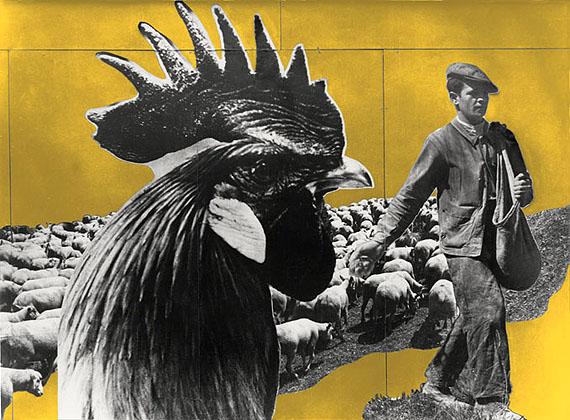 Charlotte Perriand/Fernand Léger, Pavillon de l'Agriculture: La France agricole, Foto- montage für Weltausstellung in Paris 1937, Originalgrösse: 4.60 x 6.20 m, Foto: François Kollar, Farbrekonstruktion: Jacques Barsac, 2010, © AChP / 2010, ProLitteris, Zürich