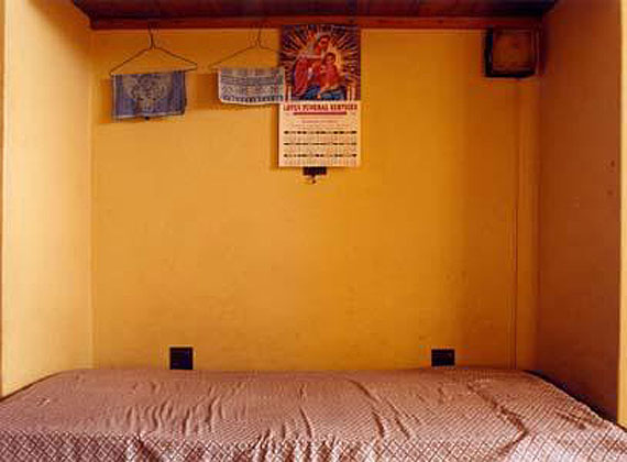 "Zwelethu MthethwaUntitled from ""Empty Beds"" series, 2002Chromogenic color print, 25 ½ x 34 in.Courtesy the artist and Galería Oliva Arauna, MadridImage Courtesy Jack Shainman Gallery, New York"