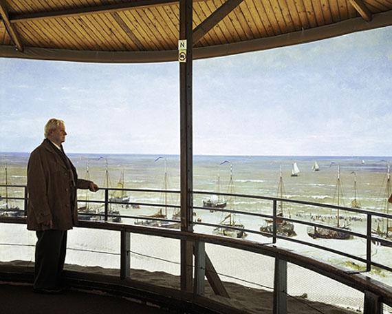 Ville Lenkeri: Northerly Wind – Watching a Storm Rising over the Dunes at Scheveningen Sometime in the 19th Century, 2007, 124 x 155cm, digitaler C-Print, auf Diasec montiert