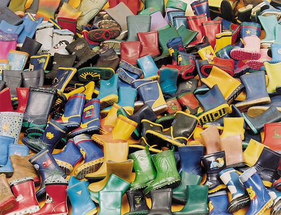 Stolen Gumboots, 2005, from the series Artifacts. Collection of the Artist.© Boris Becker; SABAM, Brussel, 2010