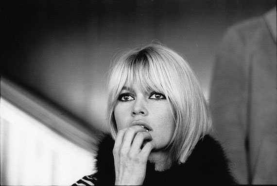 Gilles Caron: Brigitte Bardot, Orly, December 16th, 1965Gelatin silver print. (11,8 x 15,7 inches) Edition of 12 and 3 artist proofs.