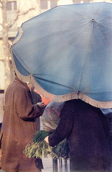 «Blue umbrella», années 1950.