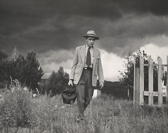 Dr. Ceriani Going from House to Hospital, Country Doctor, 1948 © The Heirs of W. Eugene Smith, courtesy Black Star