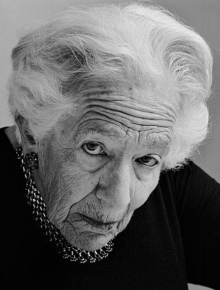 © Herlinde Koelbl: aus der Serie Jüdische Portraits, Grete Weil, München 1987