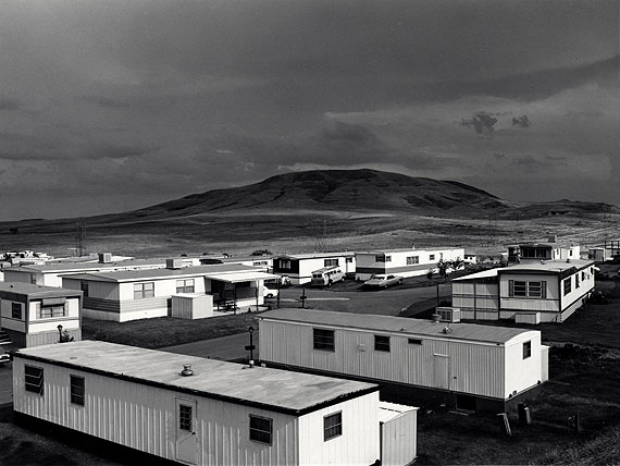 Robert Adams (American, b. 1937)MOBILE HOMES, JEFFERSON COUNTY, COLORADO,1973George Eastman House collections.© Robert Adams, courtesy of Fraenkel Gallery, San Francisco, and Matthew Marks Gallery, New York