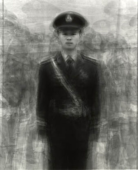 Ken Kitano: 24 Guards in Tianamen Square, Beijing, China, 2009, from the series «Our Face»