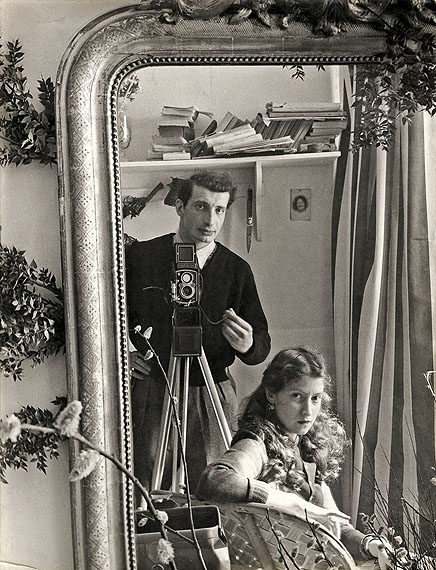 Edouard BoubatSELF-PORTRAIT WITH LELLA, PARIS. 1952Vintage or Early gelatin silver print 30,5 x 23,5 cm (12 X 9 1/4 IN.).Photographer's copyright stamp on the reverse