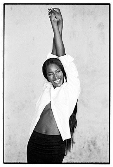 Naomi Campbell, Paris 1998Silver gelatin print50 x 60 cm ( 20 x 24 inches)Edition of 8© Marc Hispard