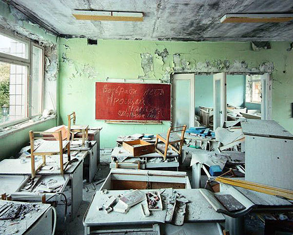 "© ROBERT POLIDORI, CLASSROOM IN KINDERGARDEN #7 ""GOLDEN KEY"", PRIPYAT, 2001"