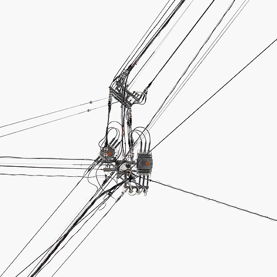 Andreas Gefeller, Poles 08, 2010, Tintenstrahldruck, 100x100 cm