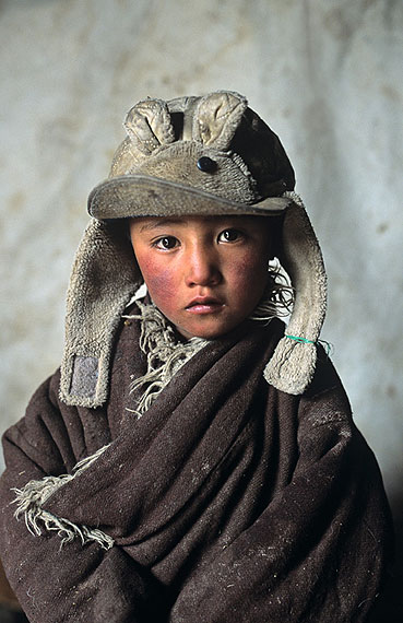 Boy in Bunny hat, Amdo, Tibet, 2001© Steve McCurry