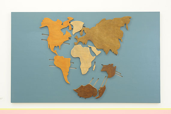 Yto BarradaTectonic Plate, 2010 Wood and Paint, 48 1/16 x 78 3⁄4 in. © Courtesy of Gallery Sfeir-Semler, Hamburg/ Beirut