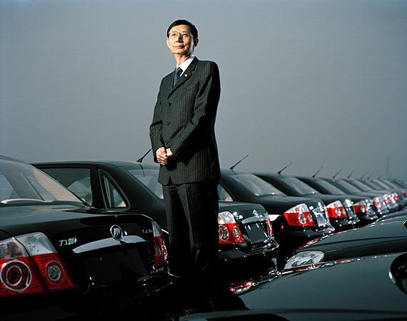 © Mathias Braschler& Monika Fischer: Yin Ming Shan. President and Founder of Life Holidays. Car and Bike Factory. Changping; 2007