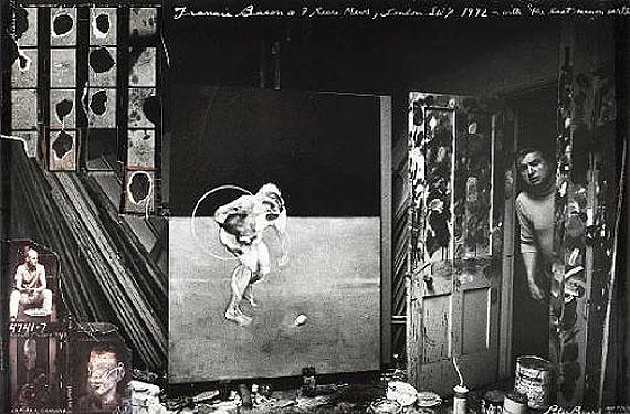 Peter BeardFrancis Bacon, 7 Reece Mews, London, 1972Gelatin silver print with collageEstimate: $10,000 - 15,000© 2011 Bonhams & Butterfields