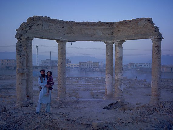 Jaw Aka Faizal Nahman and his daughter Nono from Bamiyan province, now