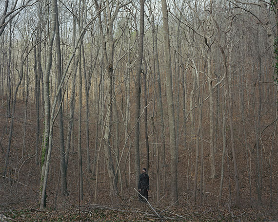 Alec Soth2006_03zL0016 (monk in the woods)2006archival pigment print101,6cm x 127cmCourtesy Loock Galerie, Berlin
