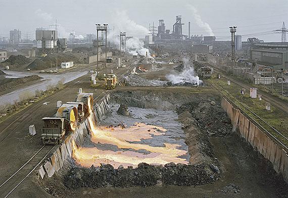 Duisburg - Schlackeabschüttung bei Thyssen © Matthias Koch