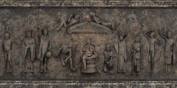 Wang Qingsong - The History of Monuments (Detail), 2010