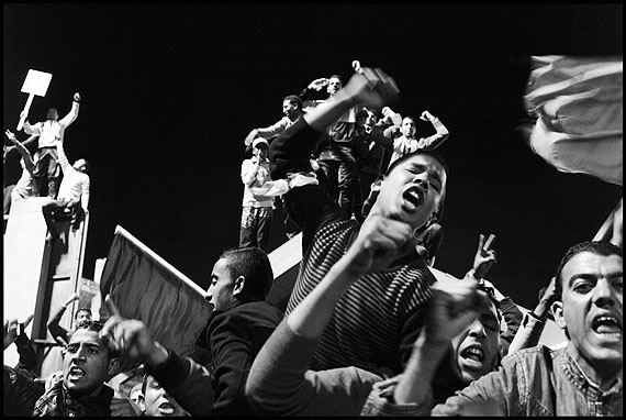 Moises Saman. Tripoli. March 31, 2011. Pro-Qaddafi supporters willingly acting as human shields, rally in suport of the Libyan leader inside his Bab al-Aziziyah compound in Tripoli.© Moises Saman/ /Magnum Photos