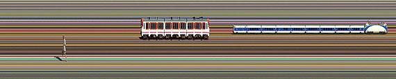 Jay Mark Johnson El Anarquista y el tren, 2008 photograph 90 x 459 cm