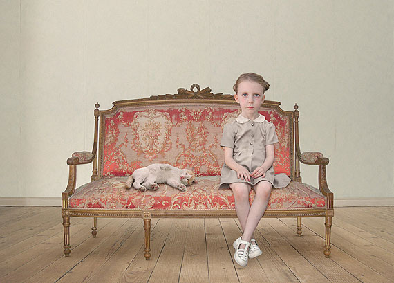 Loretta Lux (Germany b1969)The waiting girl 2006, Ilfochrome photograph, 38 x 53 cm.Purchased with funds provided by the Photography Collection Benefactors Program 2007 © Loretta Lux/Bild-Kunst. Licensed by Viscopy, Sydney.