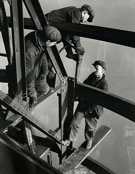 LEWIS HINE, Three Riveters, Empire State Building, 1931