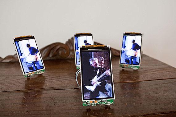 Rubén Ramos BalsaOrquesta de Musicos Callejeros (Orchestra of Street Musicians), 2007-11Video on miniature screensDimensions variableCourtesy Rubén Ramos BalsaPhoto: Singapore Art Museum
