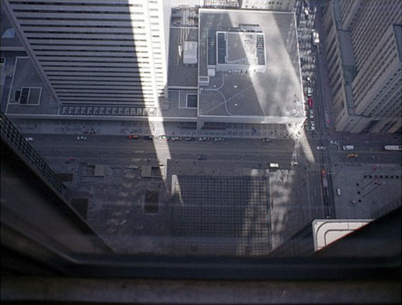 Mark Lewis (Canada)TD Centre, 54th Floor, 2009Single screen projection 35mm and 4K transferred to 2K, 6′© Mark Lewis