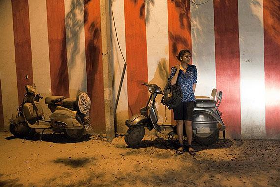 Sharmishta, étudiante en arts à l'Université Jawaharlal Nehru, une des rares universités de la capitale proposant un enseignement en cinéma et arts du spectacle. © Olivia Arthur / Magnum PhotosLe Petit Palais