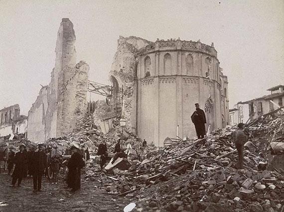 Wilhelm von Gloeden, Earthquake in Messina, 1908