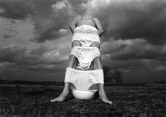 Arno Rafael Minkkinen, Narraganset, RI, from the White Underpants Portfolio, 1973Courtesy Robert Klein Gallery