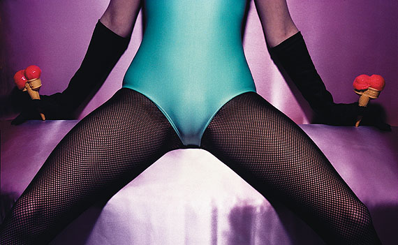 © Guy Bourdin - Pentax Calendar, July, 1980.  Copyright Estate of Guy Bourdin.  Reproduced by permission.  Courtesy of the Michael Hoppen Gallery.