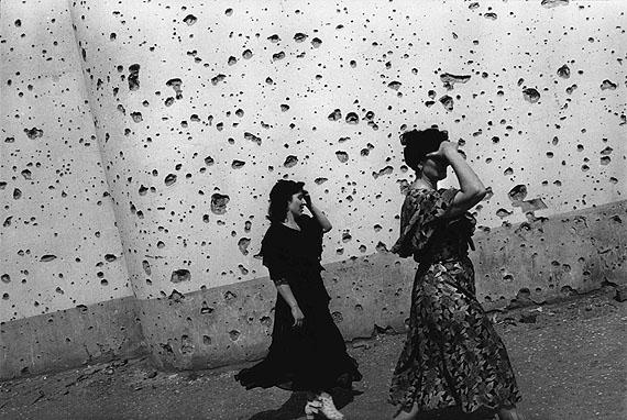 © Thomas Dworzak/MagnumphotosCHECHNYA, Grozny. 7/1996. The shrapnel-splattered wall of the Central Exhibition Hall.