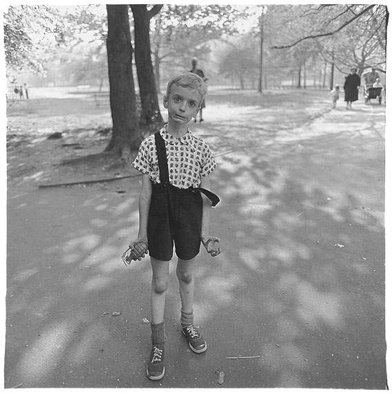 Diane ArbusChild with a toy hand grenade in Central Park, N.Y.C. 1962© The Estate of Diane Arbus