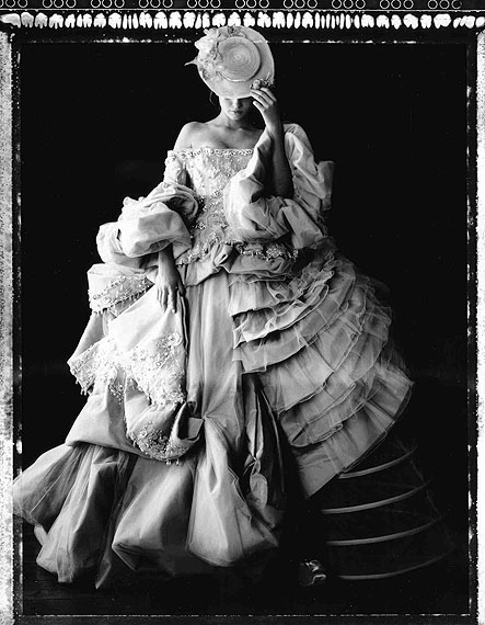 Madame au Chatelet, Dior Collection Winter 2007, Paris, 2009Gelatin silver printLarge, edition of 10, 72 3/4 x 53 1/8 in.Medium, edition of 5, 51 x 35 1/4 in.Small, edition of 10, 23 5/8 x 19 3/4 in.© Cathleen Naundorf, courtesy of Hamiltons Gallery