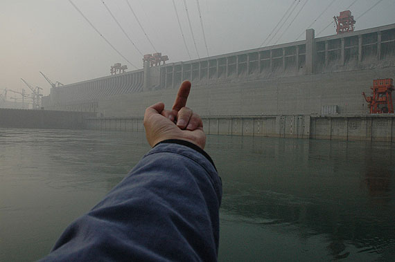 Ai Weiwei, Study of Perspective - Three Gorges Dam, Yangtze River, China, 1995-2010, Courtesy of the artist and Galerie Urs Meile, Beijing-Lucerne