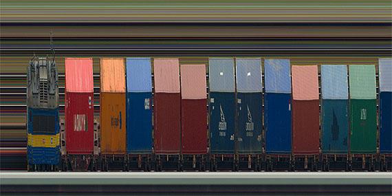 Jay Mark JohnsonVelvet Locomotion 1-4,  Prague, Czech Republik, 2011 (Detail)Durst Lambda, film, aluminum 110 x 508 cmEdition of 3courtesy the artist and Boutwell Draper Gallery, Sydney