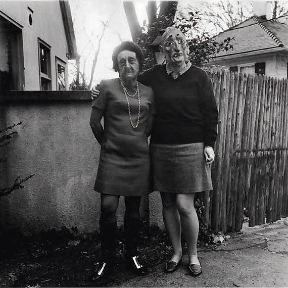 Ralph Eugene Meatyard Lucybelle Crater and Her Good, Good Mertonian Friend Lucybelle Crater, 1970 - 1972Gelatin silver print7 6/8 x 7 6/8 inches19.4 x 19.4 cmCourtesy Fraenkel Gallery, San Francisco