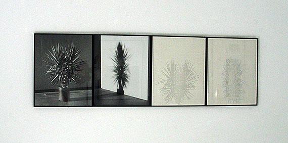 Charles Gaines: Shadows, each 50 X 40 cm, Vintage B/W photographs/drawings, 1980