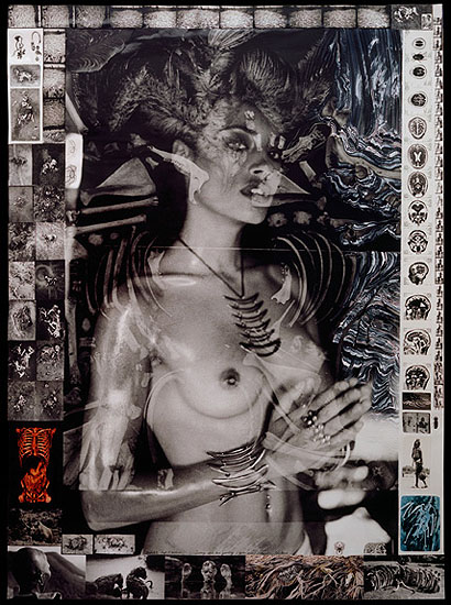 Jenny and her Jewelry, 2005/2006© Peter BeardPeter BeardSilver gelatin print, gelatin and colour collage179.1 x 127 cm