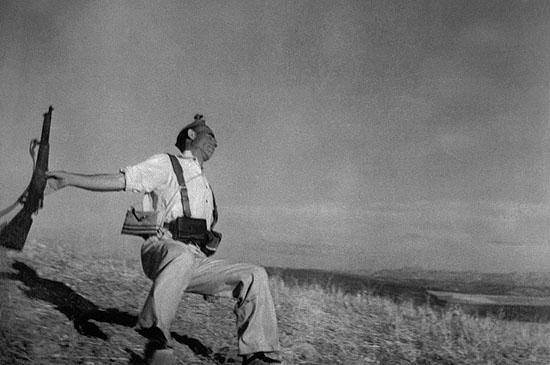 Death of a loyalist militiaman, Spain, 1936© Robert Capa /Magnum Photos