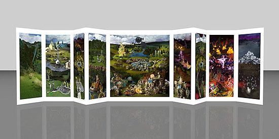 Miao XiaochunMicrocosm  - 9-panel complex work large, 2008C-Print, 300 x 1246 cmIX + 2AP