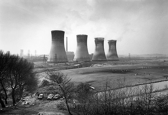 "Agecroft Power Station, Salford, 1983© John DaviesSilver gelatin print30 x 40"""